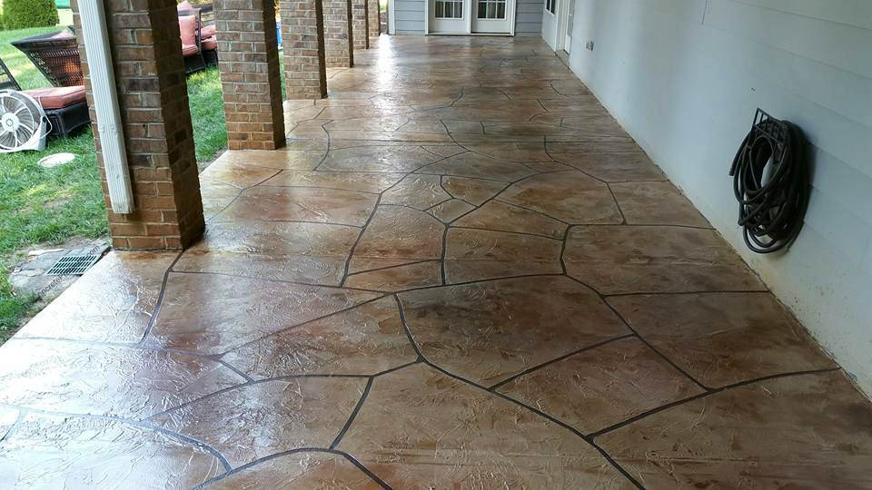 how to clean stained cement patio